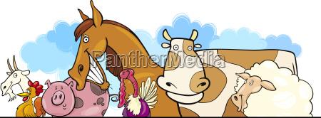 cartoon farm animals design