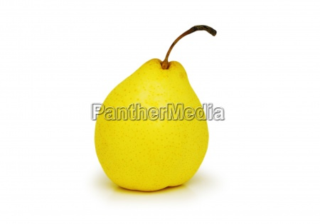 yellow pear isolated on the white
