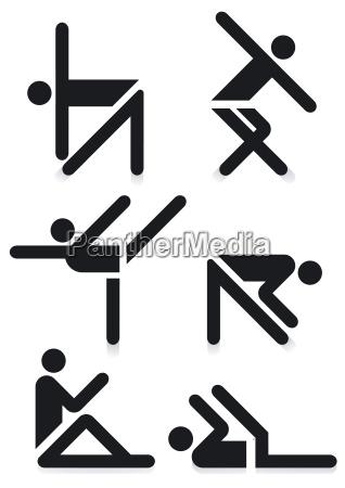 gymnastik piktogram