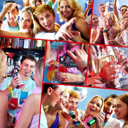 party in restaurant