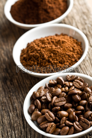 coffee beans ground coffee and instant