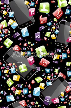 smart phone application pattern