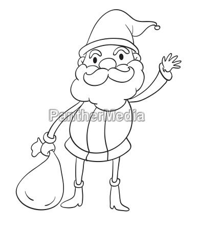 a santa claus sketch