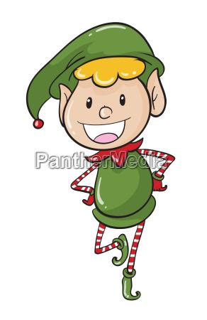 a boy in green joker dress