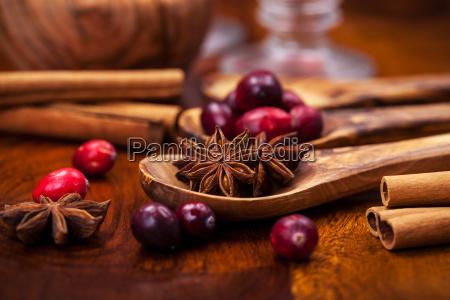 zutaten fuer cranberry gluehwein