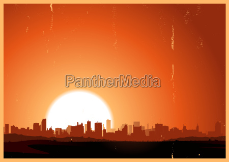 summer sunrise city