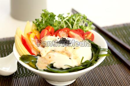 fresh tofu salad healthy salad