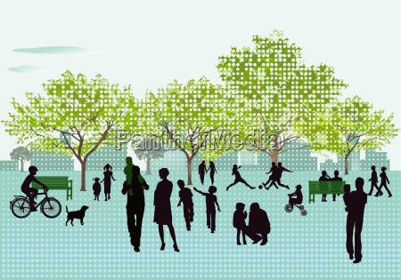 freizeit im park