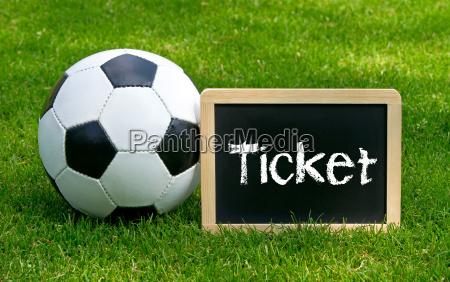 fussball ticket soccer ticket