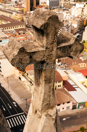 basilica cross and city view