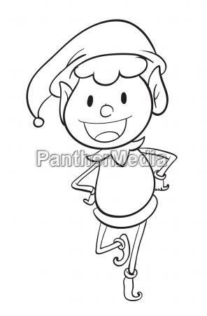 a boy sketch