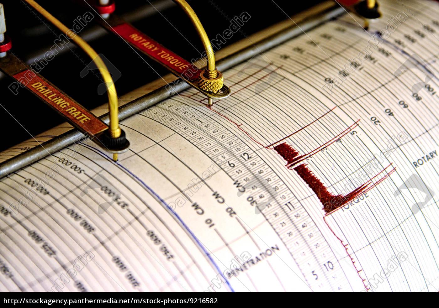 seismograph, für, das, bohren - 9216582