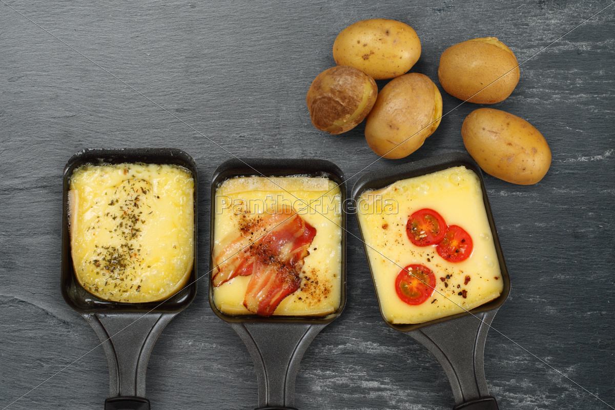 raclette, tabletts, und, kartoffeln - 9362390