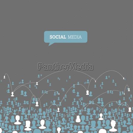 social media network vector eps10