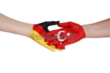german and turkish handshake