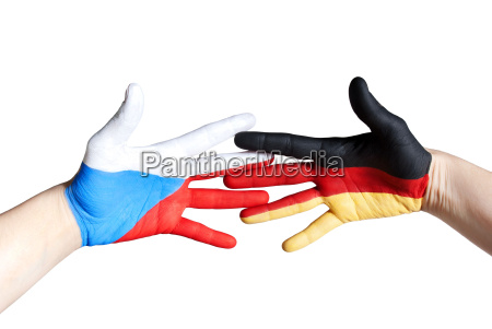 czech and german hand