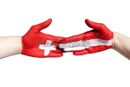 handclap between switzerland and austria