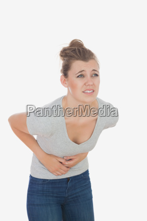 woman suffering from menstruation pain