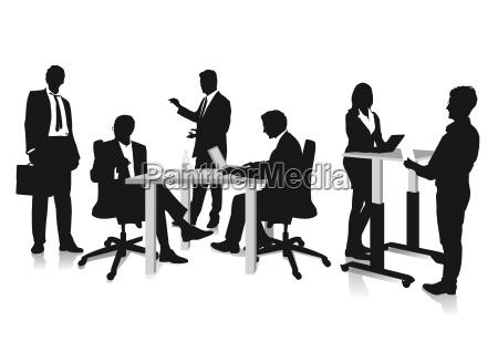 unternehmer diskutieren
