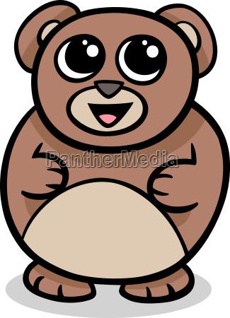 cartoon kawaii bear illustration