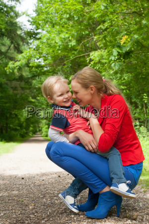 having fun with mommy