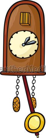 cuckoo clock clip art cartoon illustration
