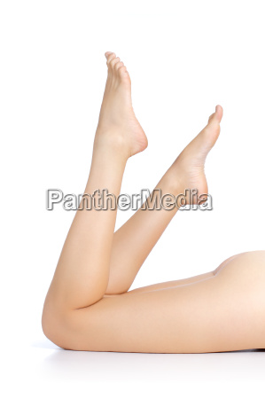 beautiful woman legs and feet pointing