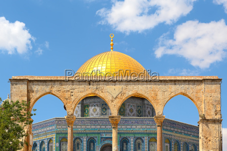 famous dome of the rock mosque