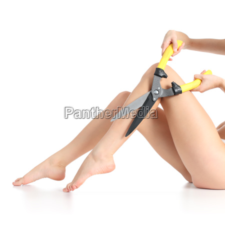 extreme female legs waxing