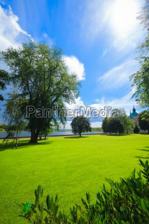 park by historical kalmar castle in