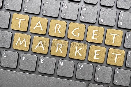 zielmarkt, auf, der, tastatur - 11009132