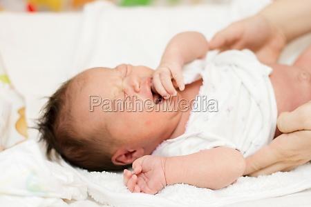 crying newborn baby girl