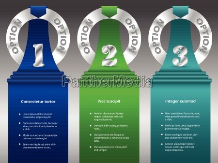 inforgraphic design with metallic rings and
