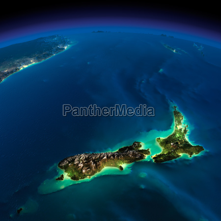 night earth pacific new zealand