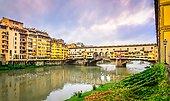 view of famous ponte vecchio bridge