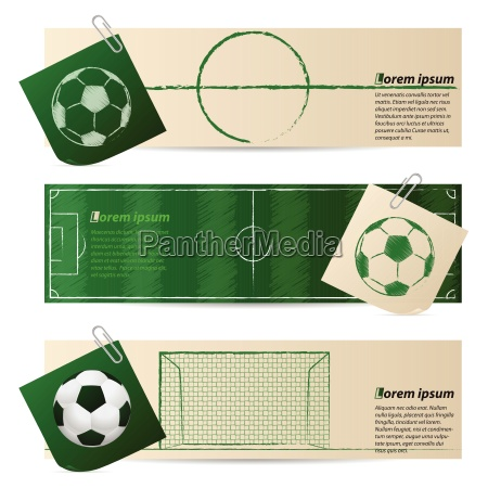 label set of three with soccer