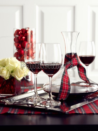 glass chalice tumbler cup winter advent