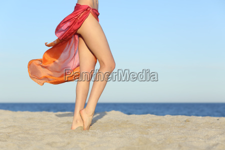 standing woman legs posing on the