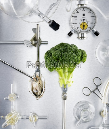 still life food aliment arrangement science