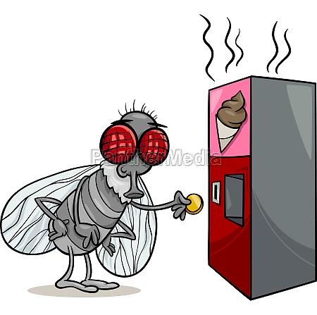 fly and vending machine cartoon