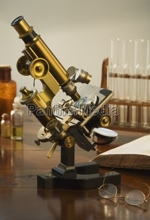 continental style labratory microscope circa 1900
