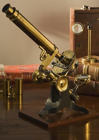 society of arts style microscope circa