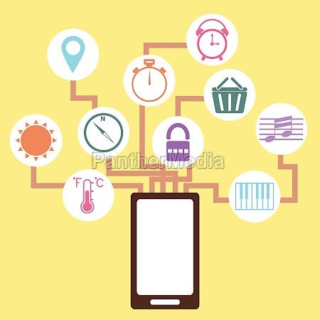 mobile application concept idea in flat