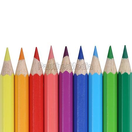 buntstifte fuer die schule mit textfreiraum