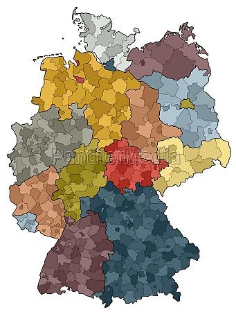 deutschlandkarte bundeslaender und landkreise