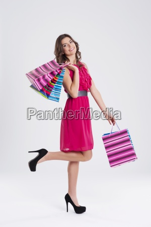 shopping woman holding bags