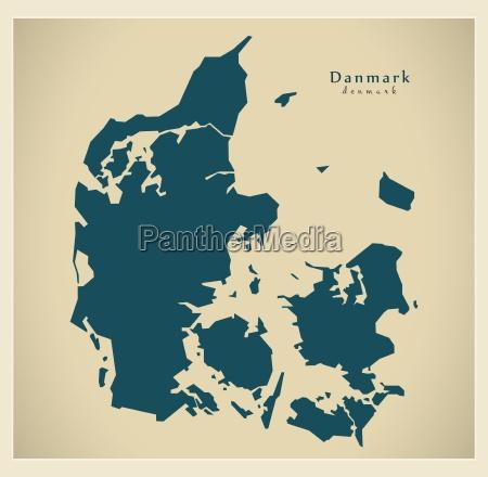 moderne landkarte daenemark