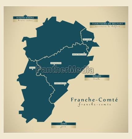 moderne landkarte franche comte fr