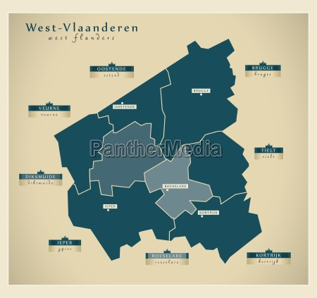 moderne landkarte west vlaanderen be