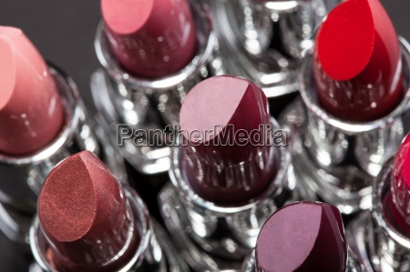 lipsticks in a row